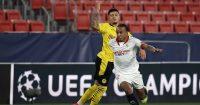 Jadon Sancho, Jules Kounde Sevilla v Borussia Dortmund February 2021