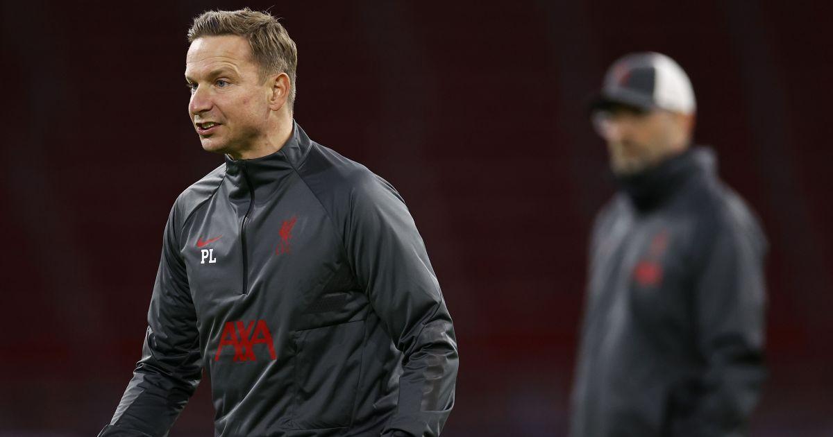 Pep Lijnders Liverpool assistant manager October 2020