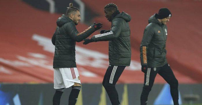 Paul Pogba, Alex Telles Man Utd v Southampton February 2021