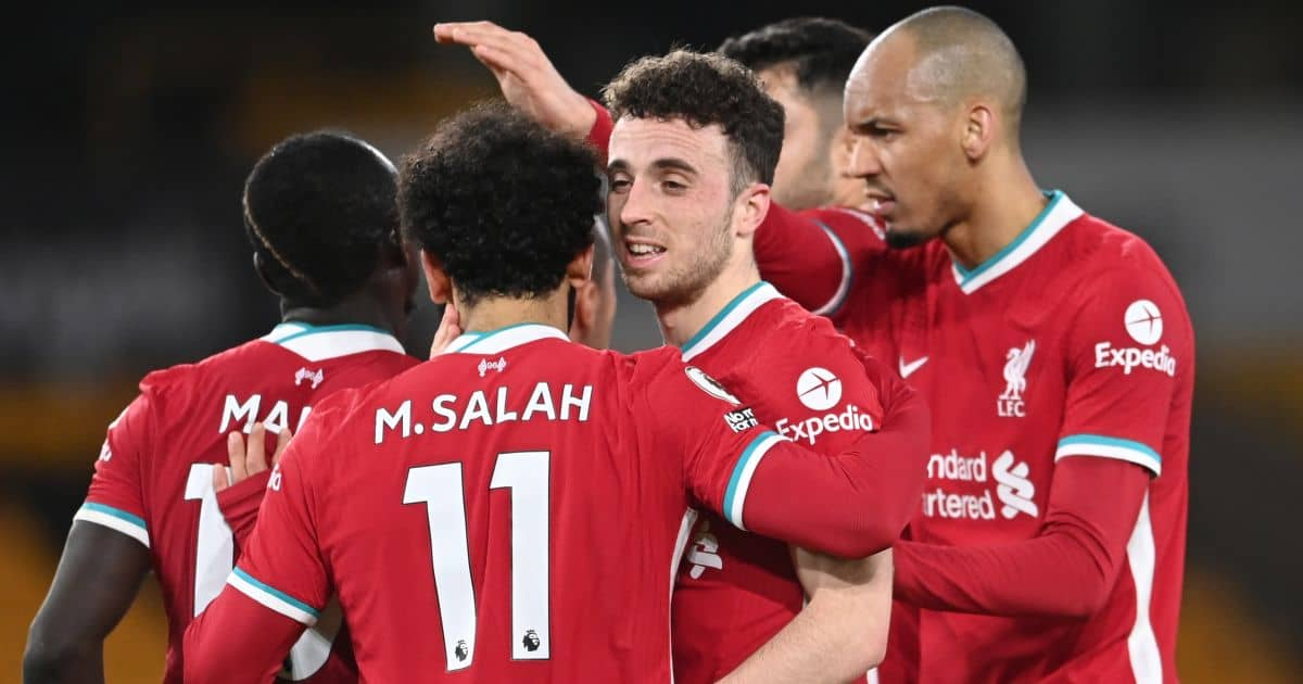 Mohamed Salah, Diogo Jota Liverpool March 2021