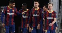 Ronald Araujo, Ousmane Dembele, Frankie De Jong, Clement Lenglet, Lionel Messi