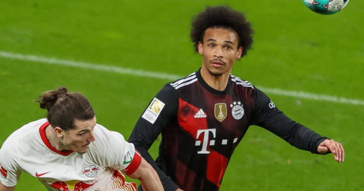Marcel Sabitzer, Leroy Sane RB Leipzig v Bayern Munich April 2021