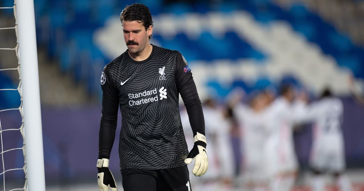 Alisson Becker Real Madrid v Liverpool April 2021