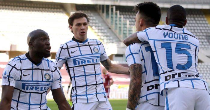 Romelu Lukaku, Nicolo Barrella, Lautaro Martinez, Inter Milan