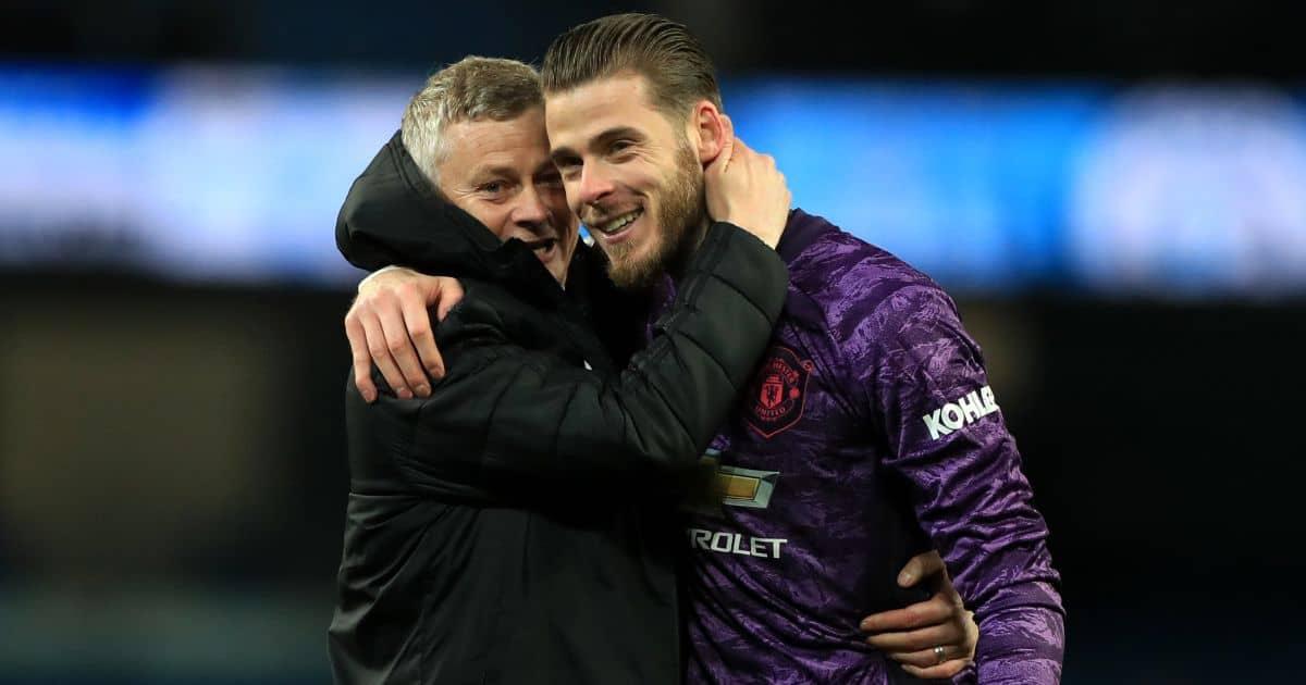 Ole Gunnar Solskjaer, David de Gea Man Utd December 2019