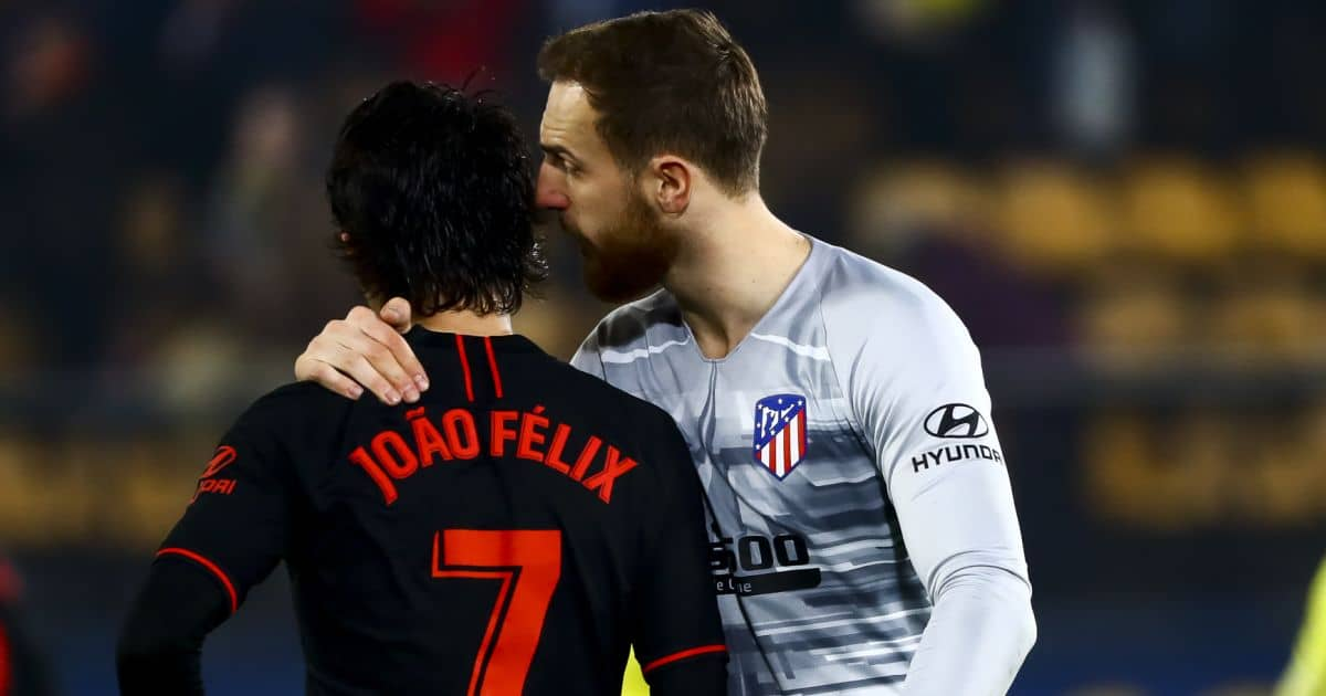 Joao Felix, .Jan Oblak Atletico Madrid