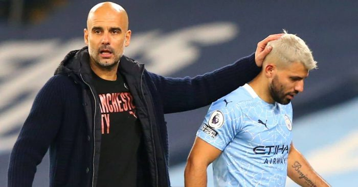 Pep Guardiola, Sergio Aguero Man City