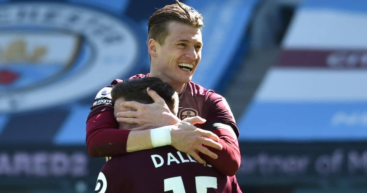 Gjanni Alioski, Stuart Dallas goal v Man City