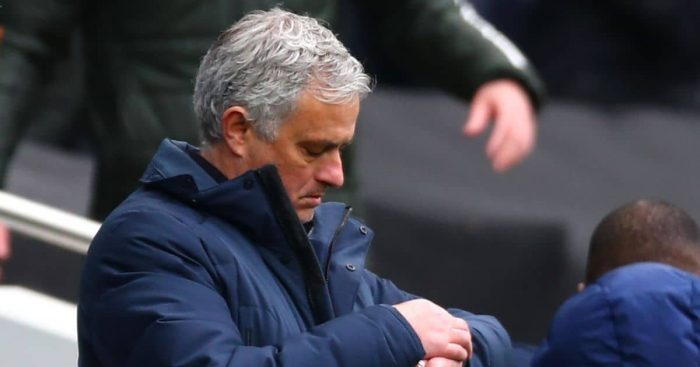 Jose Mourinho checks watch