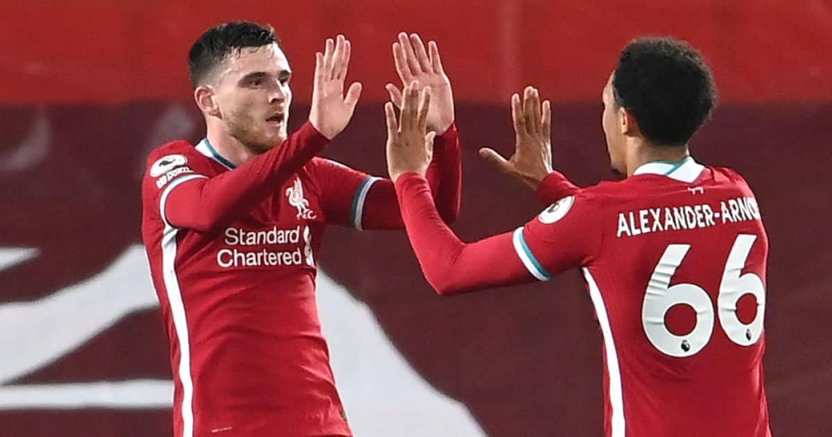 Andy Robertson Trent Alexander-Arnold Liverpool FC, 2021