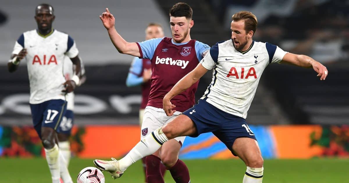 Declan Rice, Harry Kane Tottenham v West Ham October 2020
