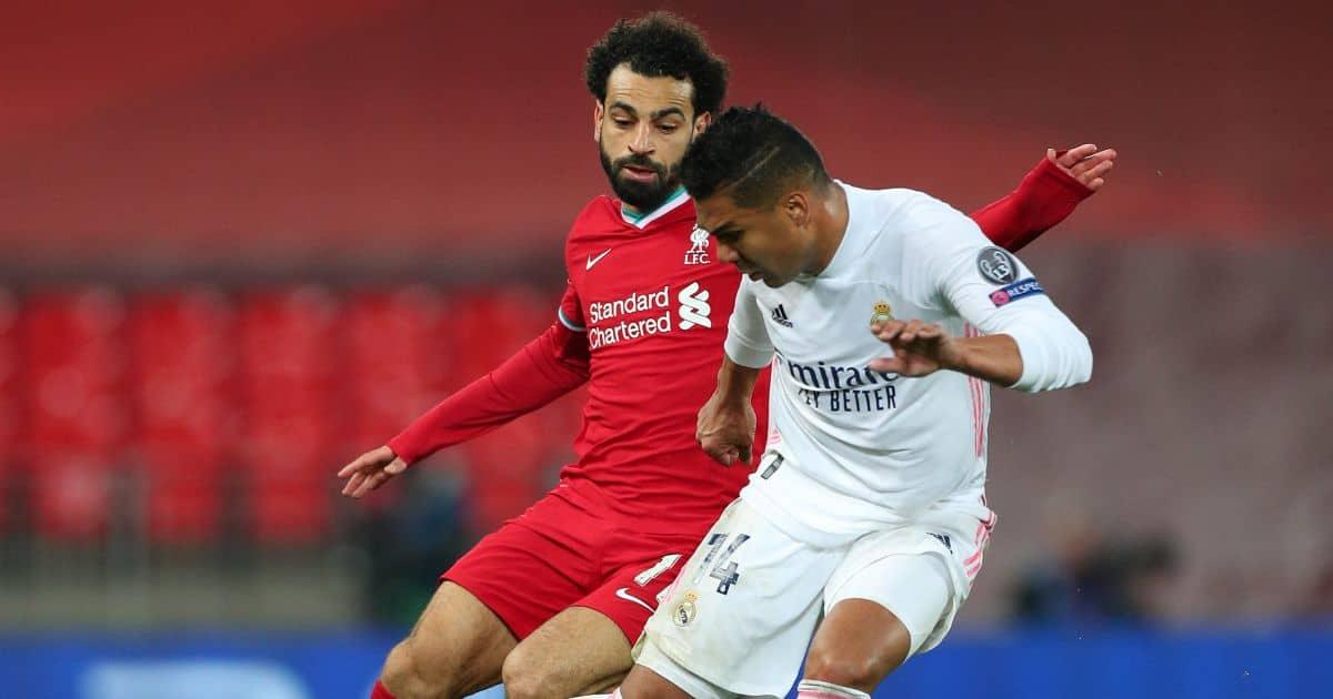 Casemiro, Mohamed Salah Liverpool v Real Madrid April 2021