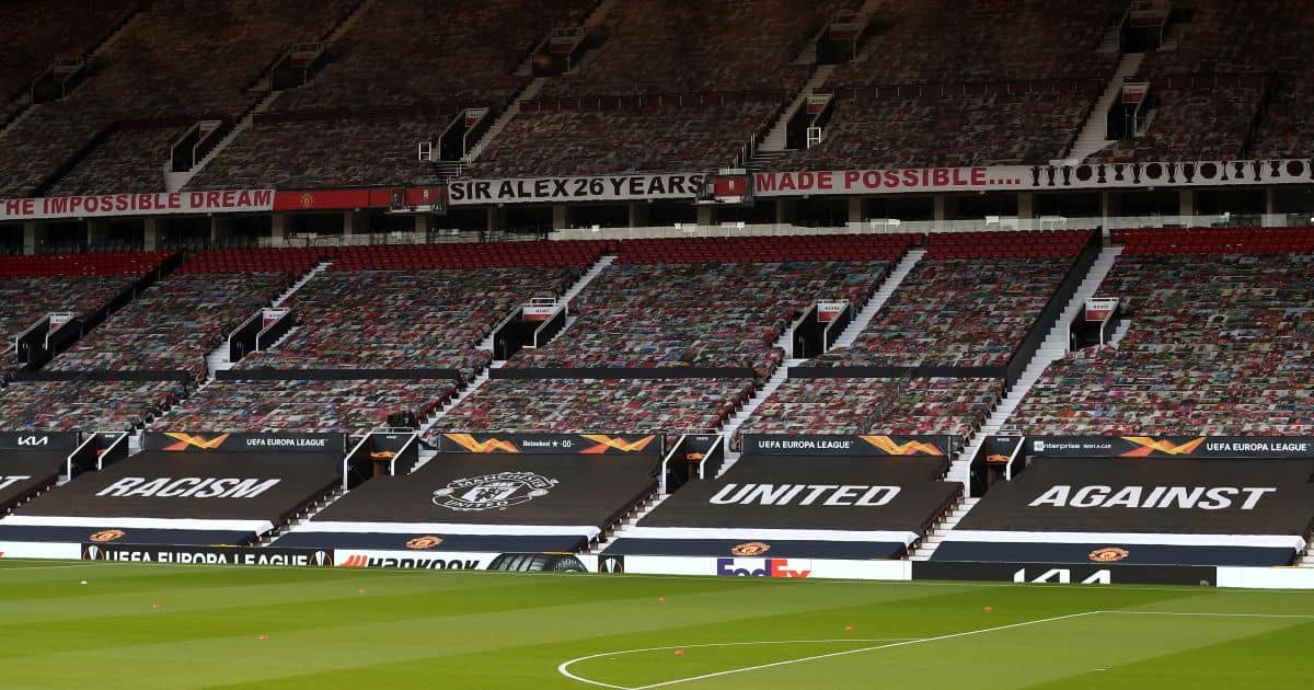 Manchester United Old Trafford banners April 2021