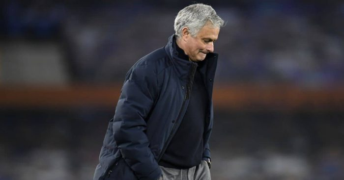 Jose Mourinho Everton v Tottenham April 2021