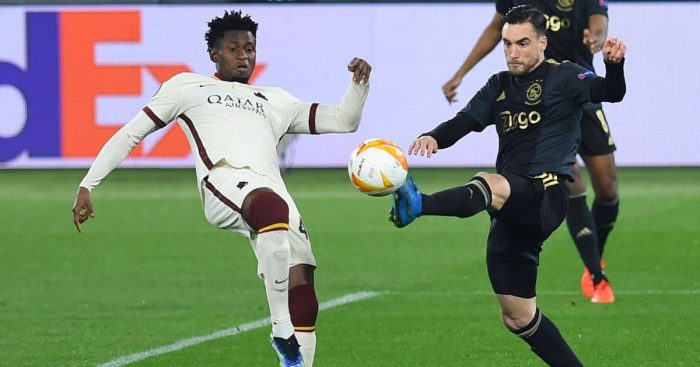 Nicolas Tagliafico, Amadou Diawara Roma v Ajax April 2021
