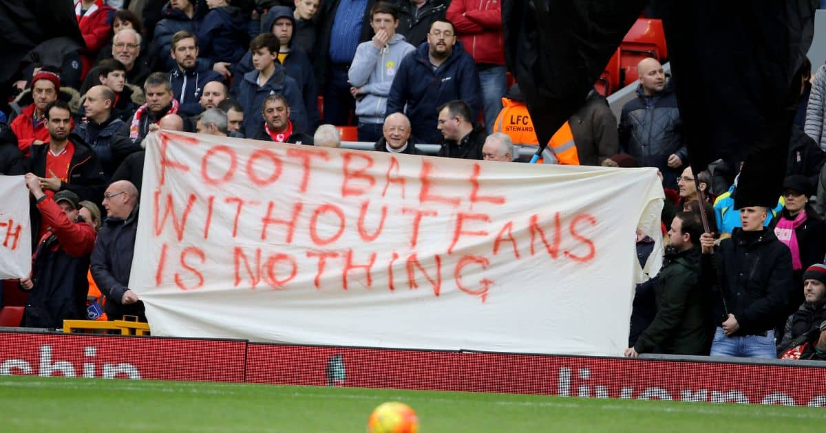 Liverpool fans protest v Sunderland February 2016