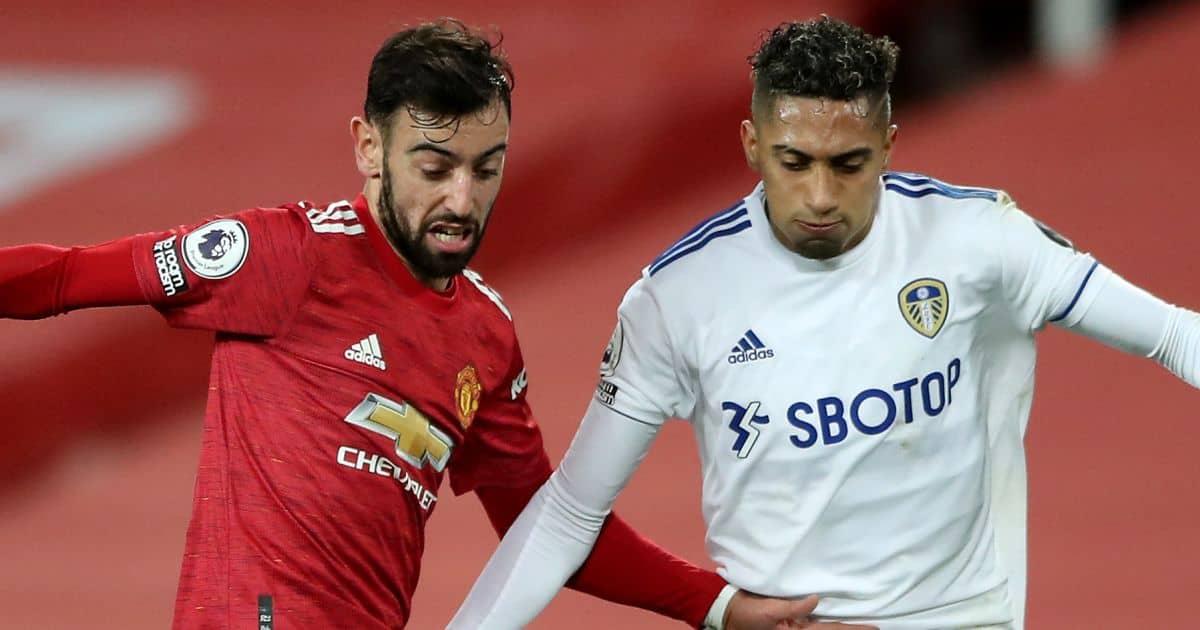 Bruno Fernandes, Raphinha Man Utd v Leeds