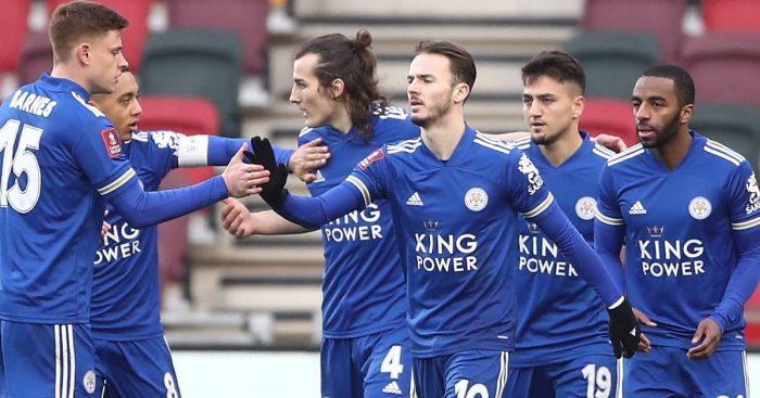 Cengiz Under, James Maddison, Caglar Soyuncu Leicester January 2021