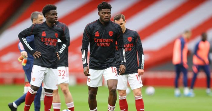 Bukayo Saka, Thomas Partey Arsenal
