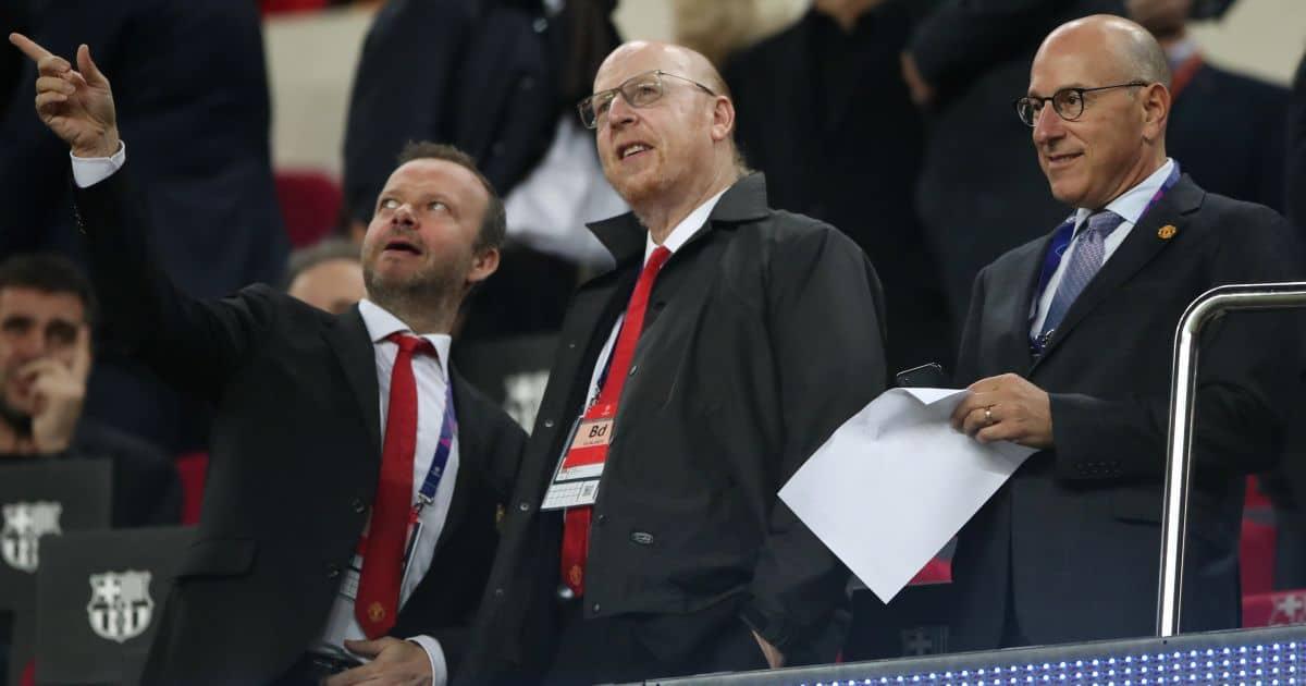 Ed Woodward, Avram Glazer, Joel Glazer Man Utd 2019