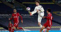 Patrick Bamford, Fabinho, Trent Alexander-Arnold Leeds v Liverpool April 2021