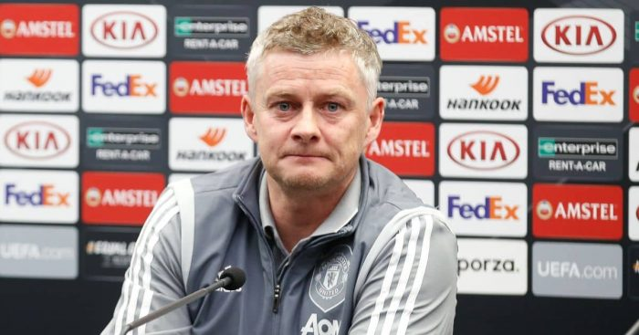 Ole Gunnar Solskjaer Man Utd press conference