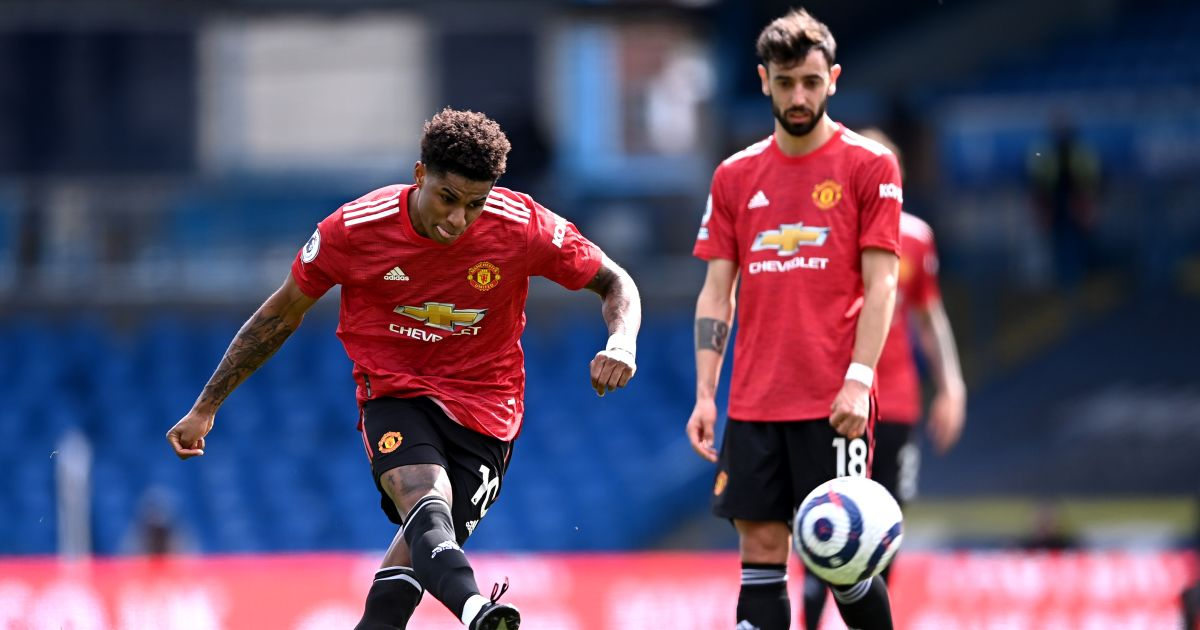 Marcus Rashford, Bruno Fernandes Leeds v Man Utd April 2021
