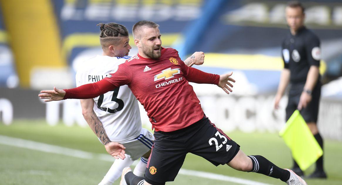 Luke Shaw, Kalvin Phillips Leeds v Man Utd