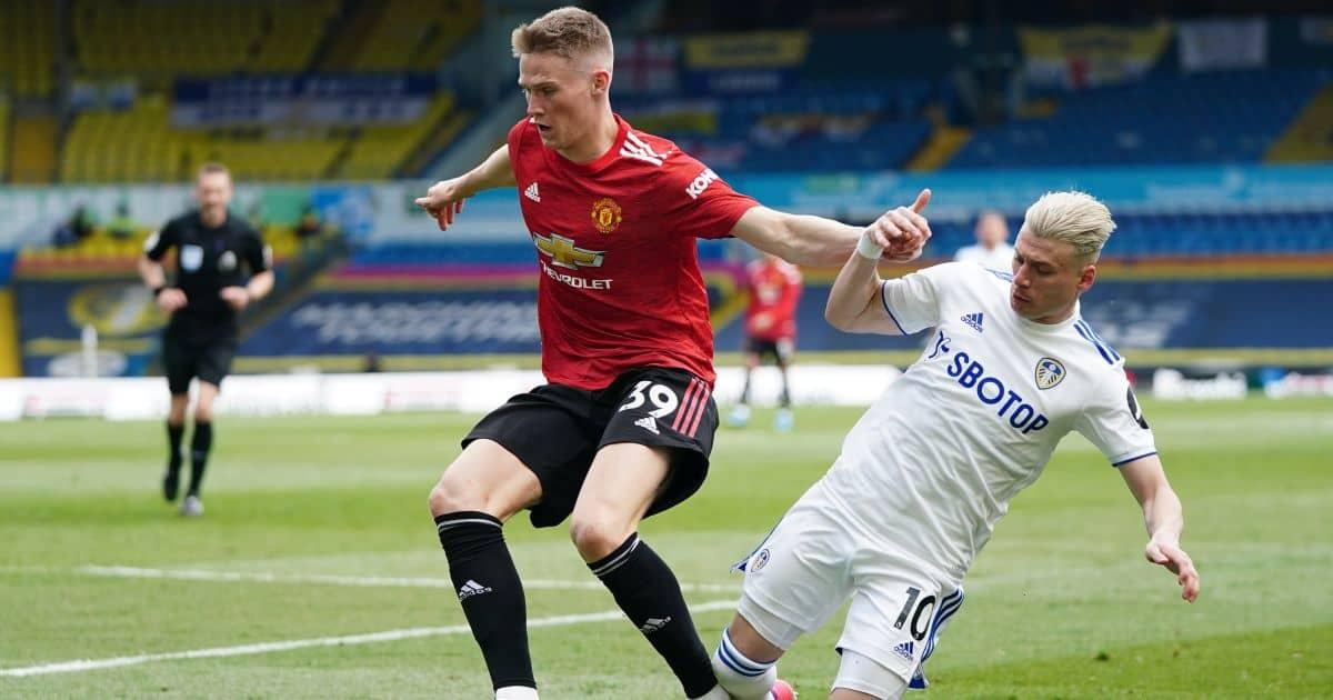 Scott McTominay, Ezgjan Alioski Leeds v Man Utd April 2021
