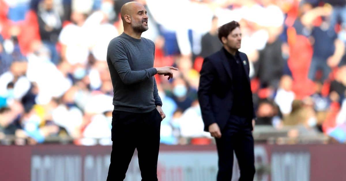 Pep Guardiola Man City v Tottenham April 2021