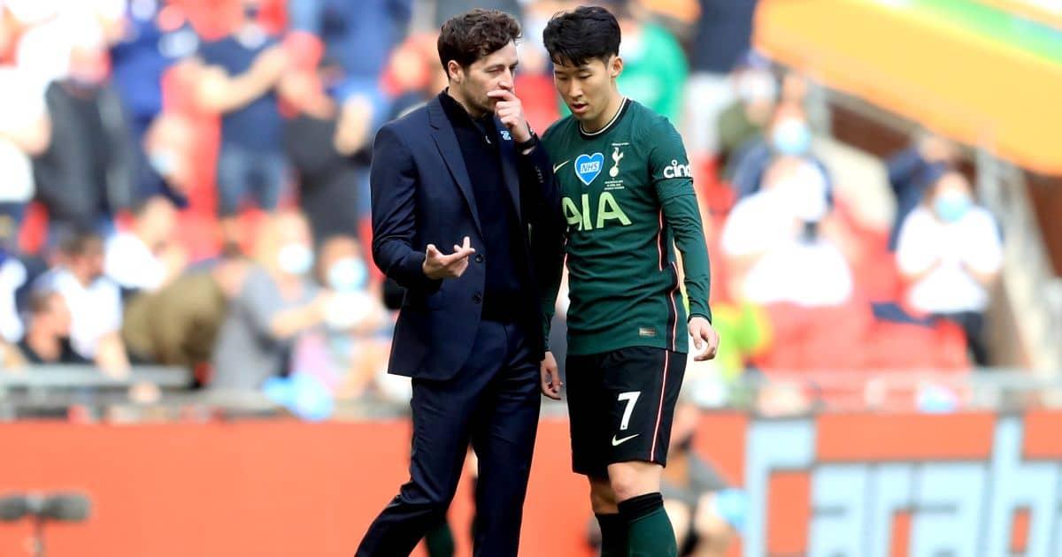 Ryan Mason, Son Heung-min Man City v Tottenham April 2021