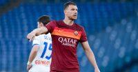 Edin Dzeko Roma v Atalanta April 2021