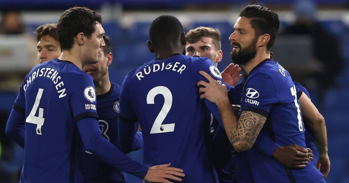 Olivier Giroud, Andreas Christensen, Antonio Rudiger Chelsea February 2021