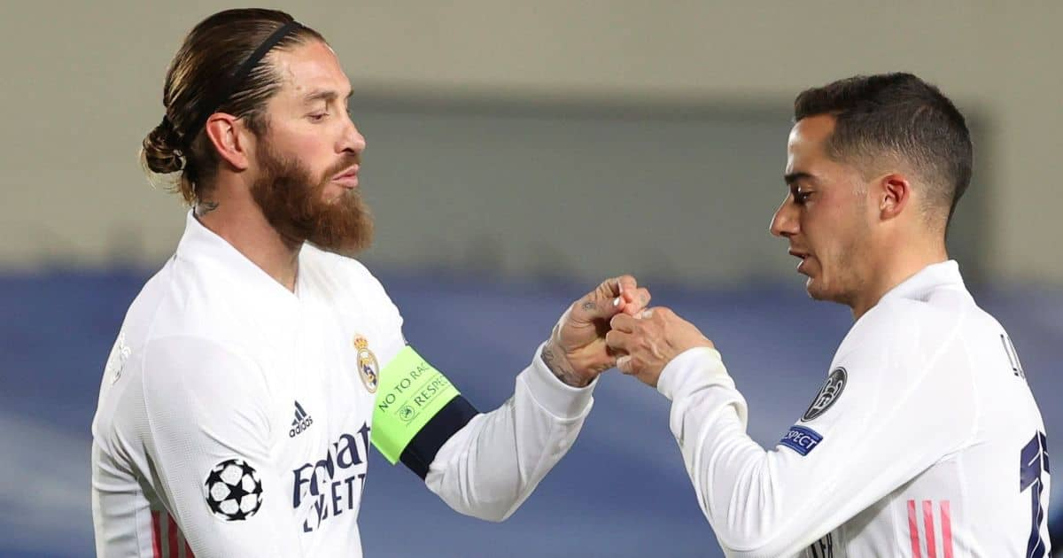 Sergio Ramos Lucas Vazquez Real Madrid