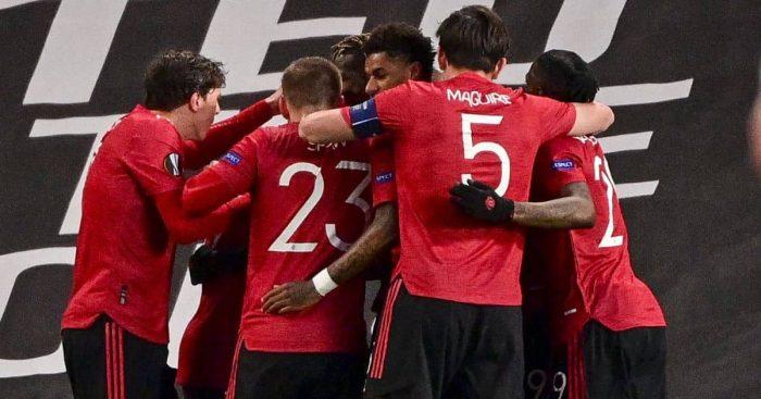Man Utd celeb, Bruno Fernandes, v Roma Europa League semi-final