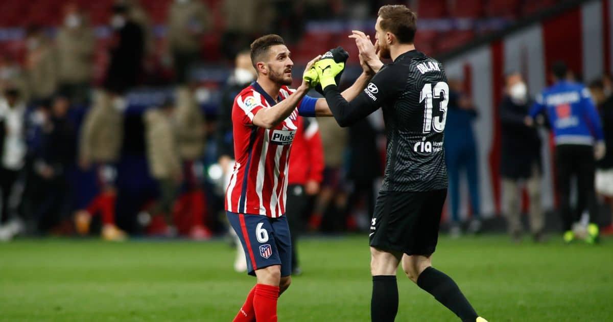 Jan Oblak, Koke Atletico Madrid v Alaves March 2021