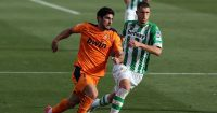 Guido Rodriguez, Goncalo Guedes Real Betis v Valencia April 2021
