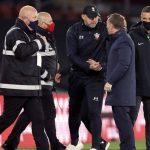 Ralph Hasenhuttl, Brendan Rodgers Southampton v Leicester April 2021