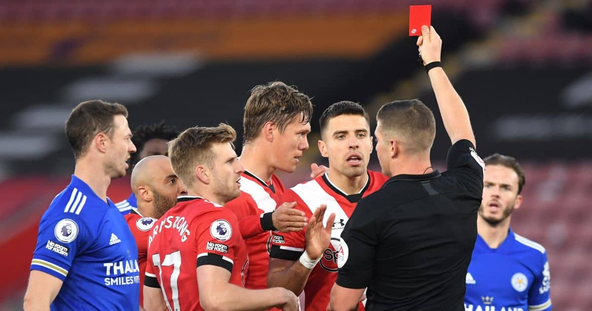 Jannick Vestergaard Southampton v Leicester April 2021