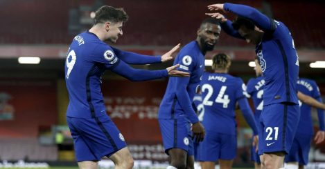 Mason Mount, Ben Chilwell Liverpool v Chelsea March 2021