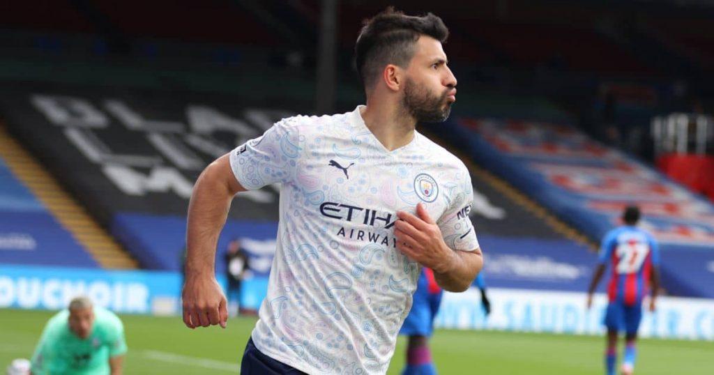 Sergio Aguero Crystal Palace v Manchester City May 2021