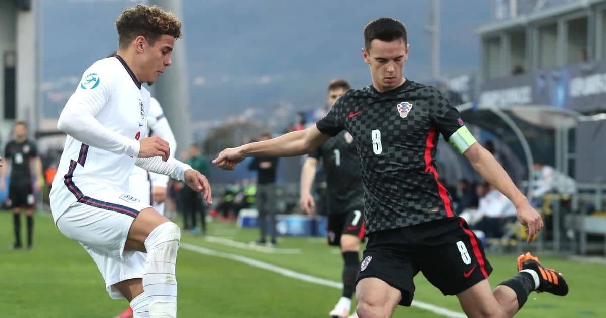 Max Aarons Norwich, Croatia v England March 2021