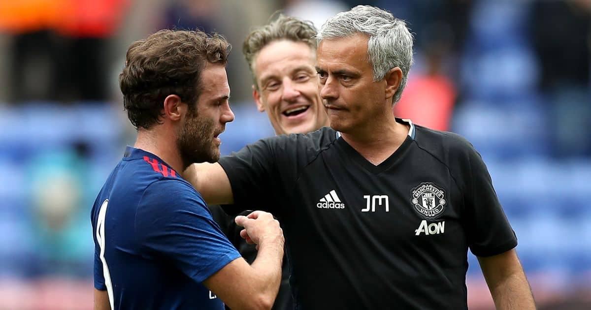 Juan Mata, Jose Mourinho Man Utd