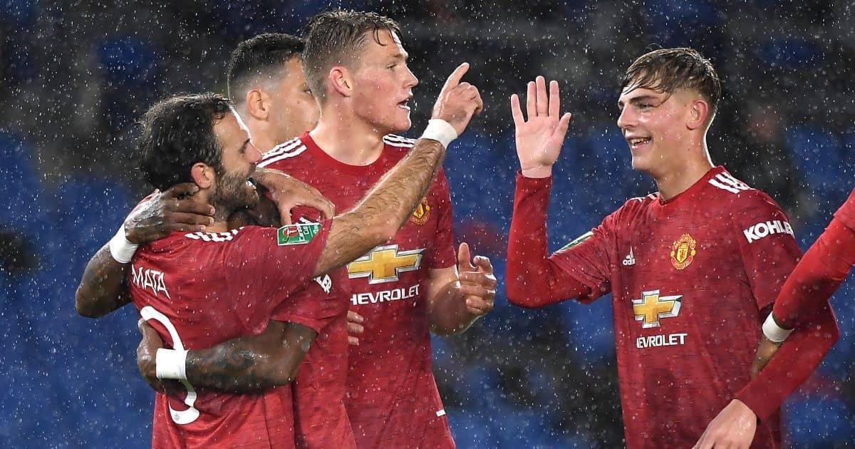 Juan Mata, Brandon Williams Brighton v Man Utd September 2020
