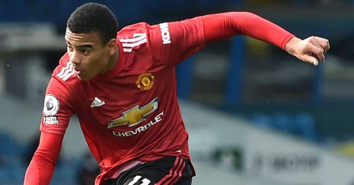 Mason Greenwood, Man Utd action shot