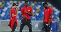 Ismael Bennacer, Rafael Leao, Franck Kessie AC Milan July 2020
