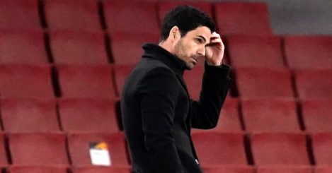 Arsenal manager Mikel Arteta frustrated, May 2021