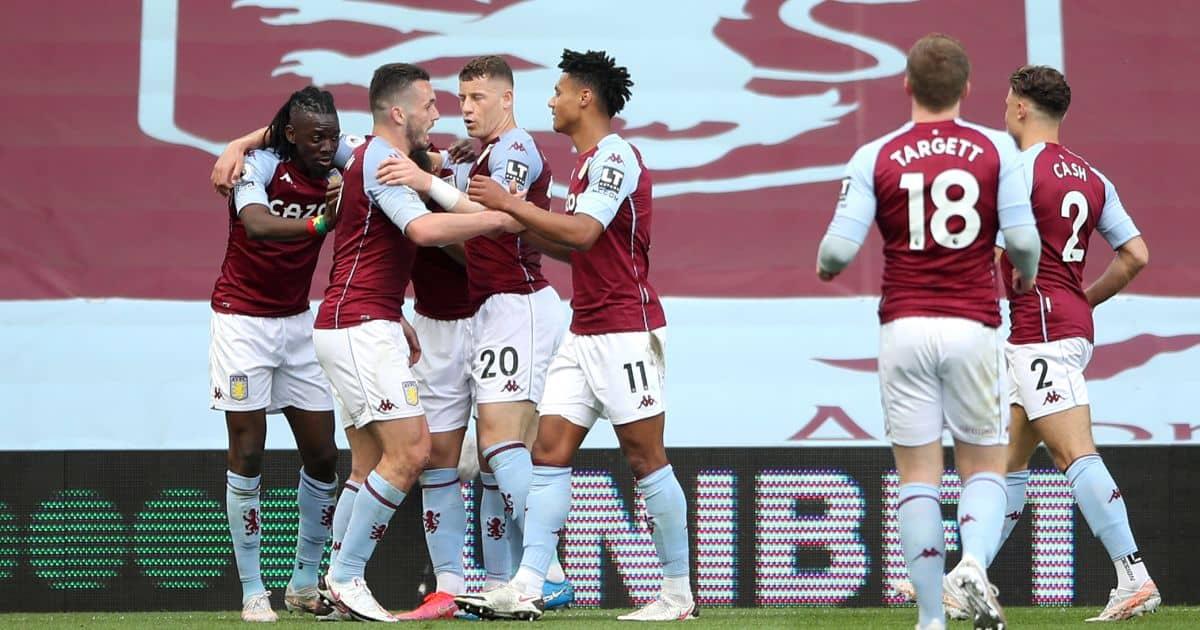 Bertrand Traore, Ollie Watkins Aston Villa v Man Utd May 2021