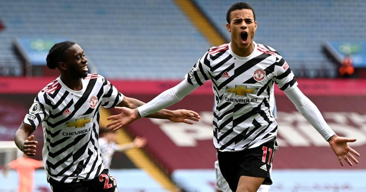 Mason Greenwood, Aaron Wan-Bissaka Aston Villa v Man Utd May 2021