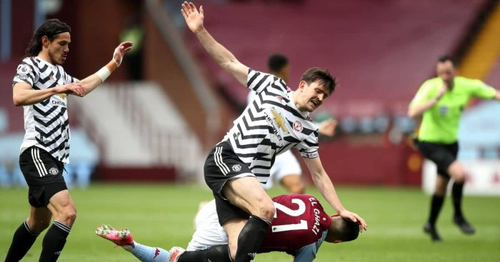 Harry Maguire, Anwar El Ghazi Aston Villa v Man Utd May 2021